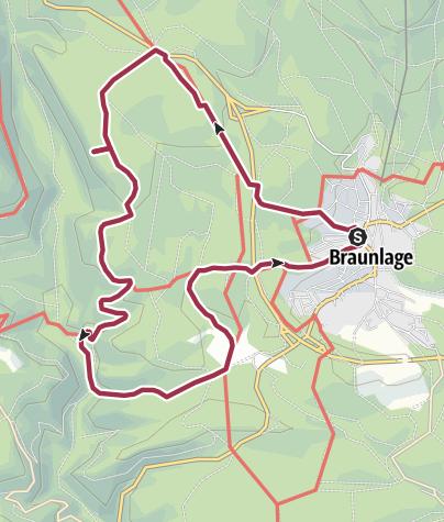 Karte / Blick ins romantische Odertal