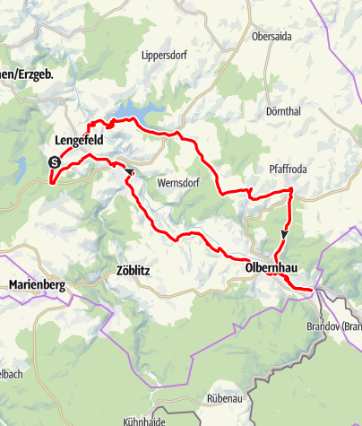 Karte / Im Tal der Flöha nach Olbernhau