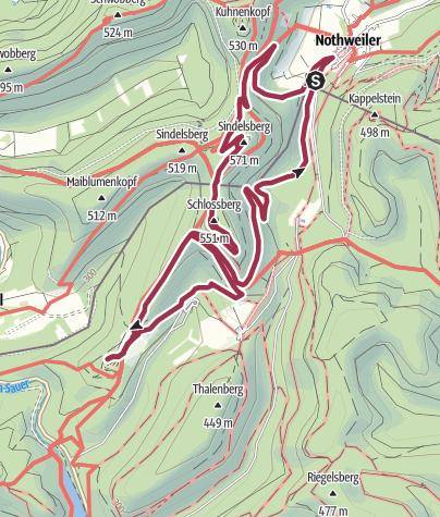 Karte / Notweiler 4 Burgenwanderung