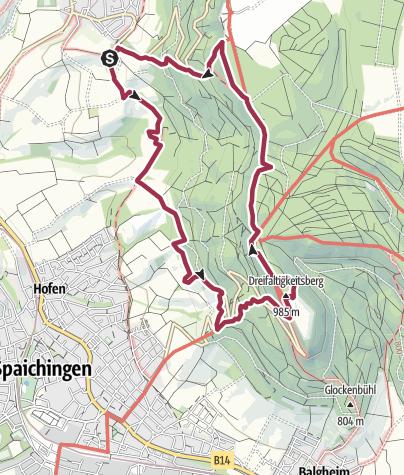 Karte / DonauWelle Klippeneck-Steig