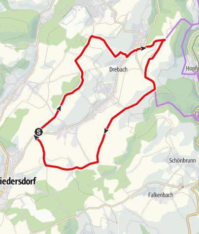 Karte / Panorama-Tour rund um Drebach