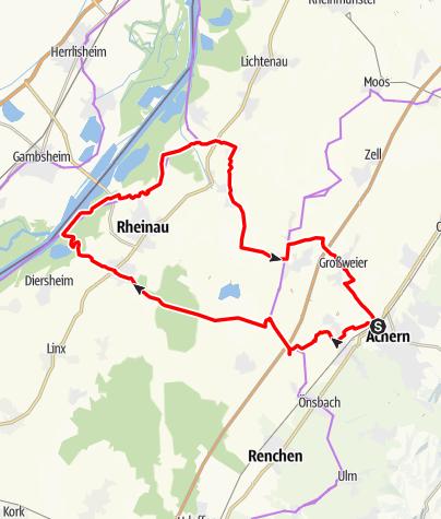 Karte / Achern: Zum Fischpass am Rhein