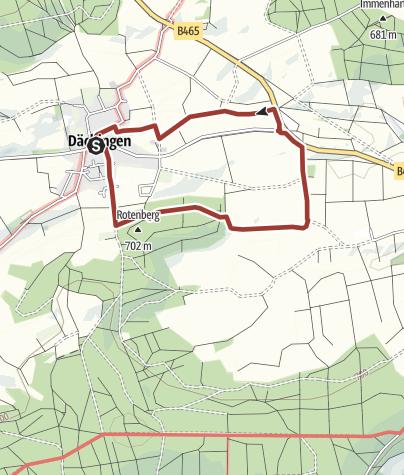 Karte / Durch Wald und Flur - Rundweg zwischen Dächingen und Altsteußlingen