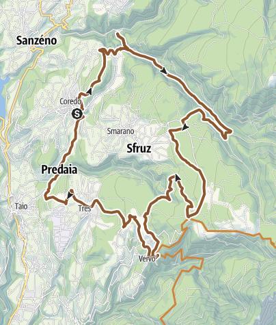 Map / Medium Tour Predaia MTB