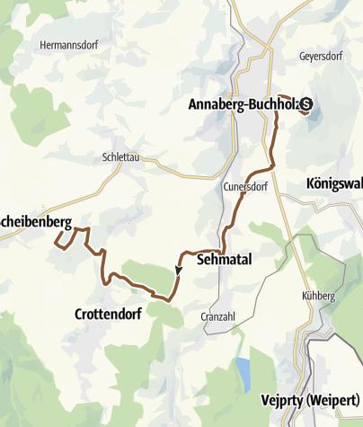 Map / Stoneman Miriquidi Abschnitt Pöhlberg Scheibenberg
