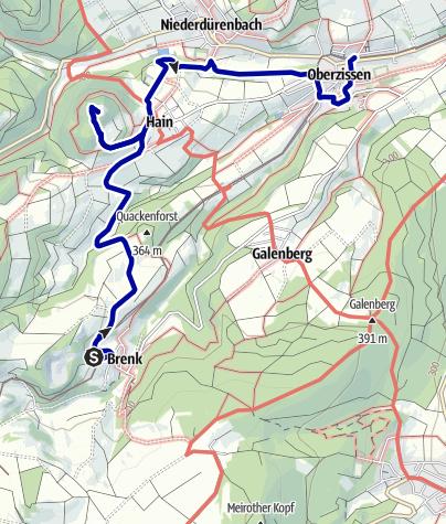 Karte / Vom Bahnhof Brenk über die Burg Olbrück nach Oberzissen