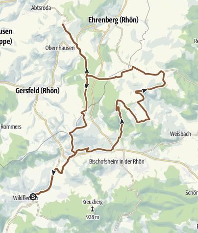 Karte / Wildfleckener Drei Gipfel Tour