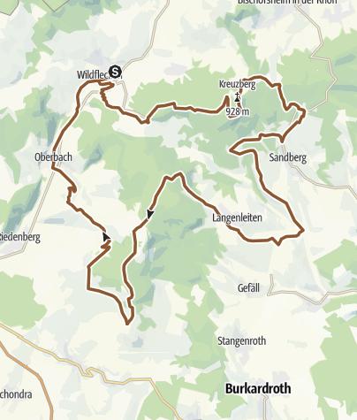 Karte / Südrhöntour