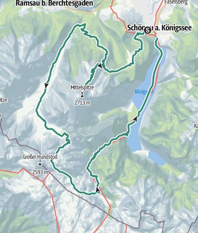 Karte / Die Watzmanntour - Hüttentrekking