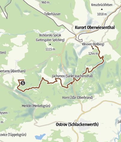 Map / Stoneman Miriquidi Abschnitt Plesivec (Plessberg) Klinovec (Keilberg)