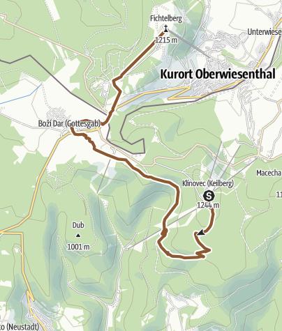 Map / Stoneman Miriquidi Abschnitt Klinovec (Keilberg) Fichtelberg