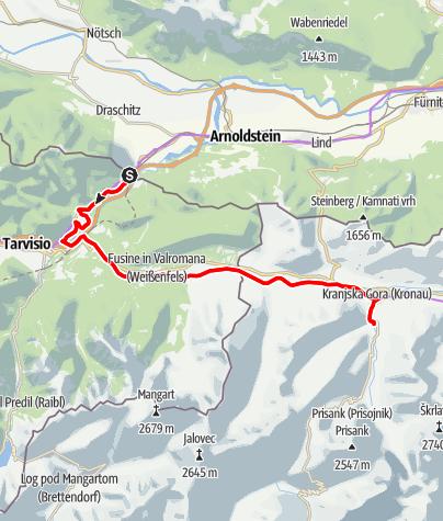 Karte / Von Thörl-Maglern nach Kranjska Gora