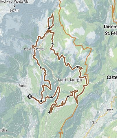 Cartina / In MTB da Rumo alle malghe del Gruppo delle Maddalene