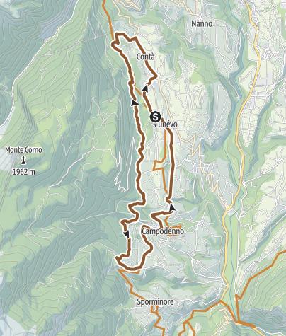 Cartina / In MTB attraverso la Pineta del Contà sopra i meleti della bassa Val di Non