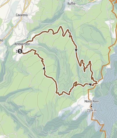 Cartina / In MTB tra le malghe del Monte Roen