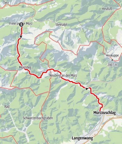 Karte / Ein Tag an der MÜRZ entlang!
