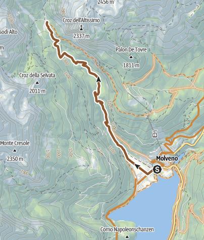 """Cartina / 800 """"Tour Croz Altissimo"""""""