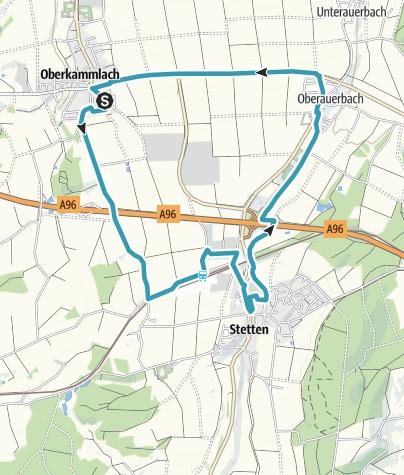 Karte / Inline Skate Strecke Unterallgäu