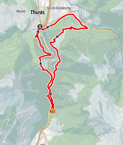 Karte / Rundtour mit sagenhaften Viamala-Trails