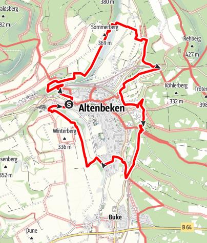 Karte / Panorama-Wanderweg V3