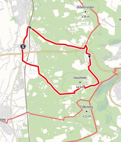 Karte / Egge-Wanderung bei Buke