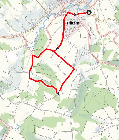 Karte / Wanderweg 3: Triftern-Hochreith-Unterpeikertsham-Voglarn
