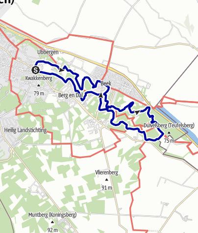 Kaart / N70-Nijmegen