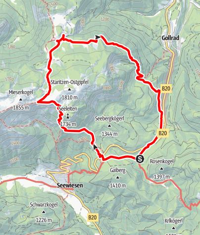 Karte / Seeleiten-Graualm-Runde