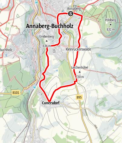 "Karte / Bergbaulehrpfad ""Am Flößgraben entlang"""