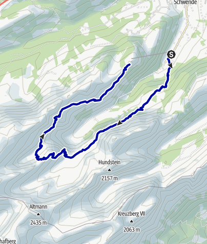 Kaart / Rund um den Seealpsee
