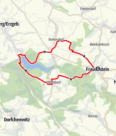 Karte / Von Frauenstein zur Talsperre Lichtenberg
