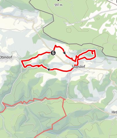 Karte / Wanderung Richtermühle-Wachbergbaude-Ottendorf und zurück
