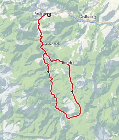 Karte / Auf den Spuren der Waldbahn ab Reichraming, Radtour