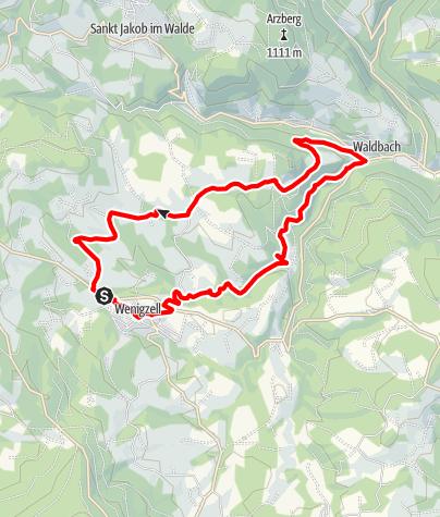 Karte / Von Wenigzell nach Waldbach