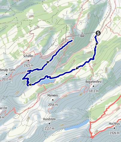 Kaart / Wasserauen-Seealpsee-Altenalp-Aescher
