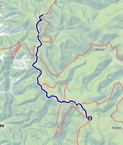 Karte / Alexanderschanze - Ruhestein