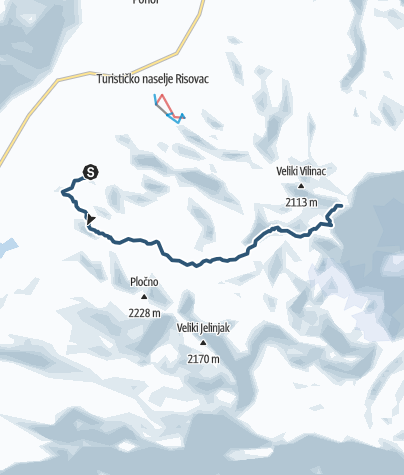 Map / Mountain skiing Via Dinarica Masna Luka-Vilinac