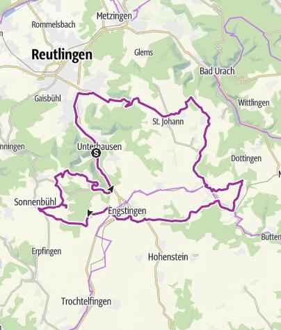 Karte / L 4 - Große sportliche Rundtour um Lichtenstein