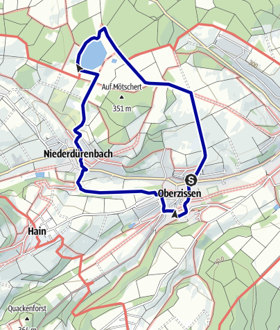Karte / Rundweg vom Bahnhof Oberzissen zum Rodder Maar