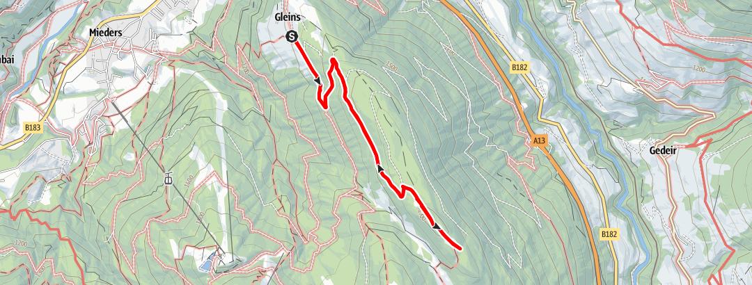 Static Map Naturschauplatz: Eulenwiesen 1 (Gleinserhof - Eulenwiesen – Gleinserhof)
