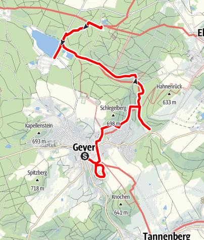 Karte / Zwischen Raithalden und Steinmatratzen
