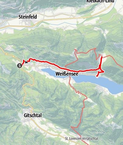 Karte / Nördl. Höhenweg - Alm hinterm Brunn