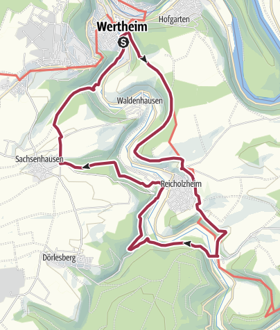 Karte / Panoramaweg Taubertal Wertheim - Bronnbach