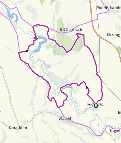 Karte / Hängebrücke Oberbinnwang 21.08.2015