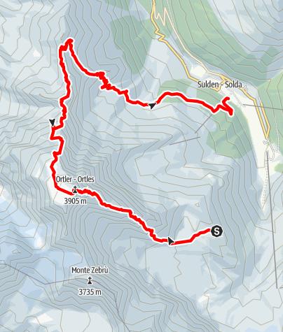 Kaart / Ortler (3905) über den Hintergrat