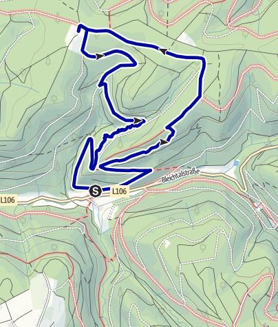 Karte / Herbolzheimer Felsenpfad zum Herbolzheimer Höfle