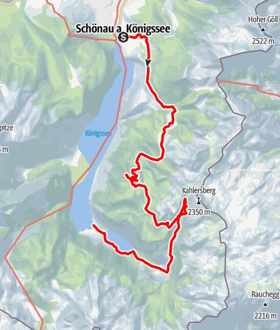 Kaart / Schönau - Gotzenalm - Obersee