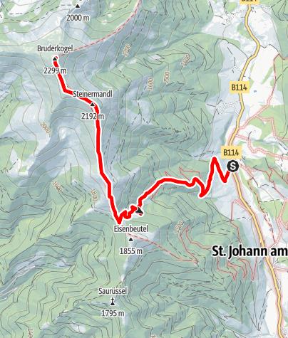 Karte / Bruderkogel