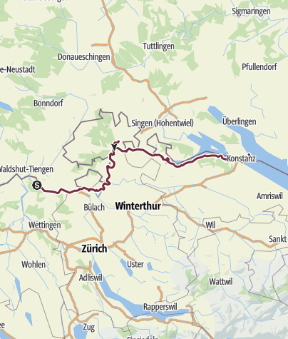 Karte / Rheinwanderung September 2016