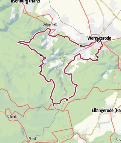 Karte / 24h Trophy 2016 - 12h rund um Wernigerode